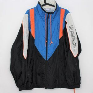 VTG Reebok Color Block Spell Out Nylon Jacket G579
